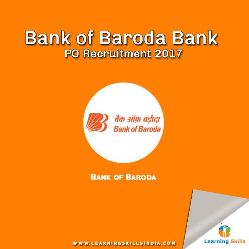 Bank of Baroda PO Recruitment 2017 – 400 PO Job Posts
