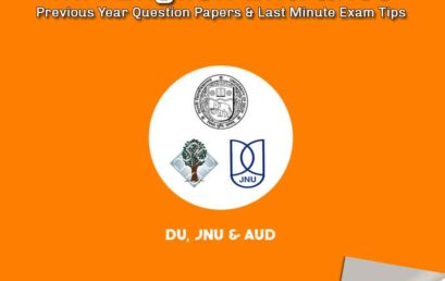 JNU, AUD & DU MA English Entrance Previous Year Question Papers