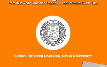 SOL BA English Hons. Previous Year Question Papers & Last Minute Tips for Scoring High
