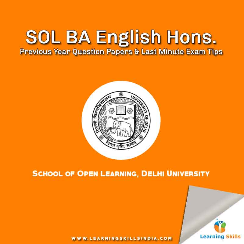 SOL BA English Hons  Previous Year Question Papers 2017