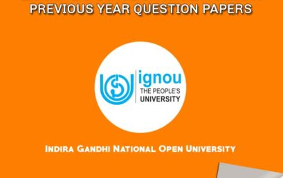 IGNOU MA English Previous Years Question Papers from 2008 to 2018