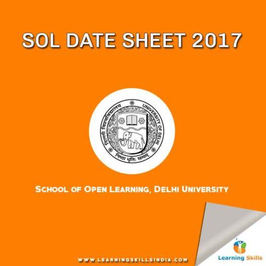 SOL Date Sheet 2017 – Annual Examination – BA English (H) & B.A. Political Science (H)