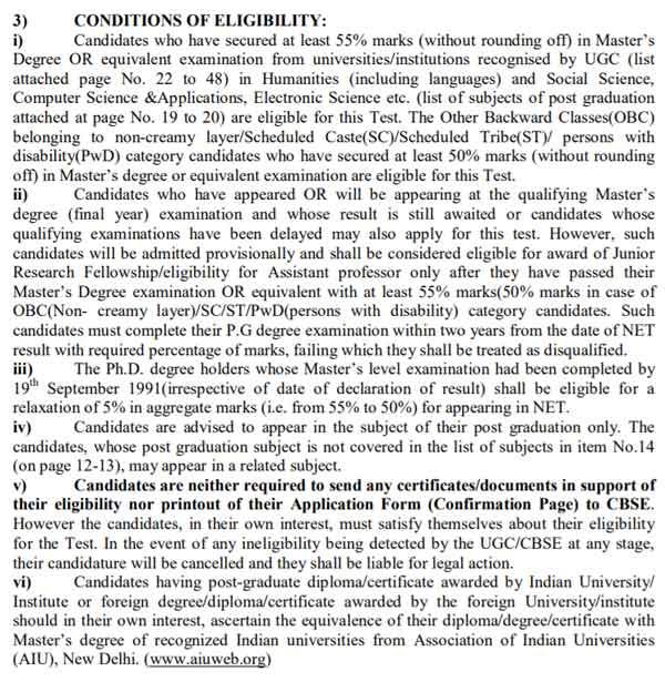 ugc net eligiblity criteria 2017