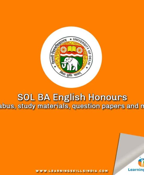 SOL BA English Honours Syllabus, Study Materials, Question Papers and More