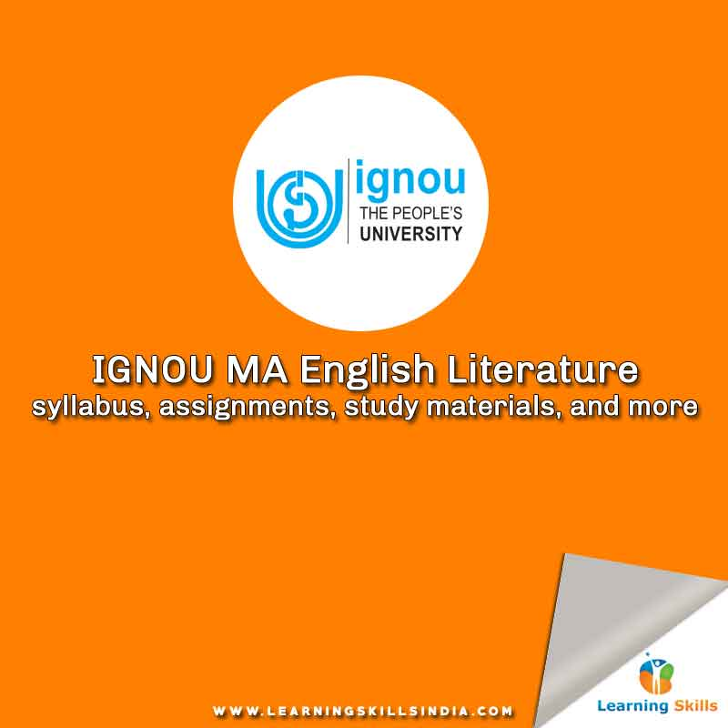 IGNOU MA English Syllabus, Assignments, Exam Schedule & More