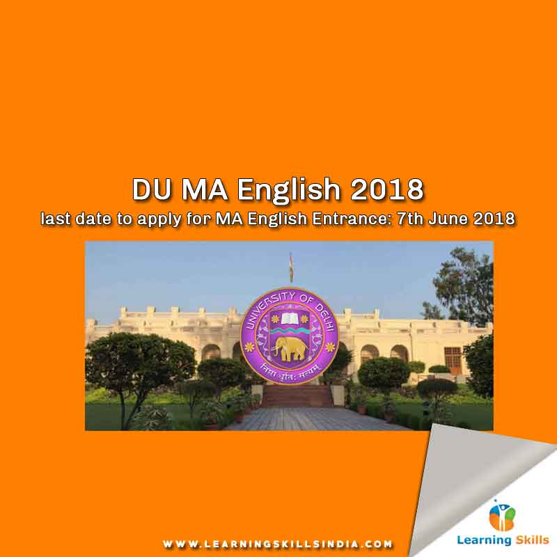 DU MA English Entrance 2018 – Syllabus, Important Dates, Pattern & More