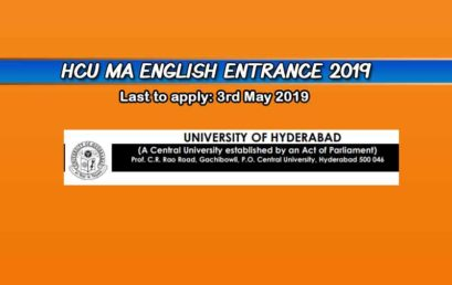Hyderabad Central University MA English Entrance 2019 – Dates, Syllabus, and Form