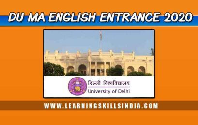 Delhi University MA English Entrance and Admission 2020 Notification