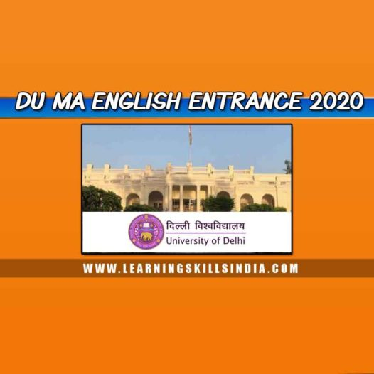 Delhi University MA English Entrance and Admission 2020 Notification Updated