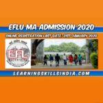 EFLU MA English Entrance 2020 – Important Dates, Eligibility, & More Info