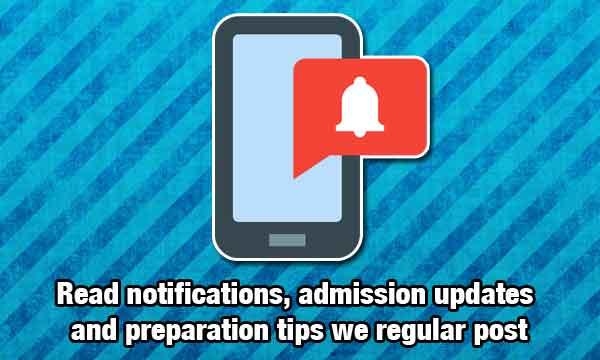 Admission Updates