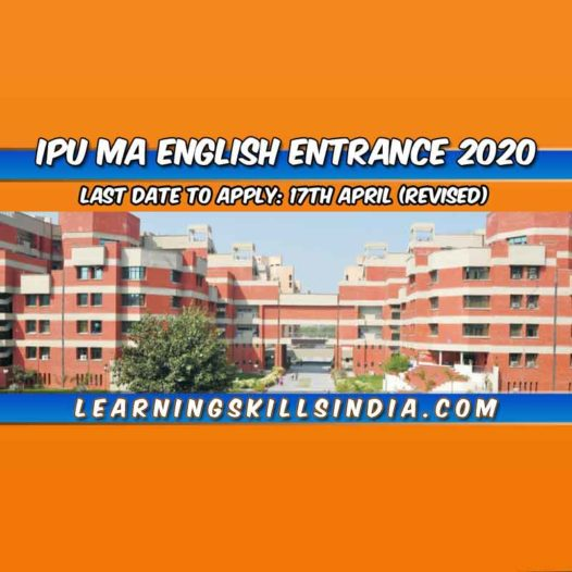 IP University MA English Entrance 2020 – Eligibility, Application & More
