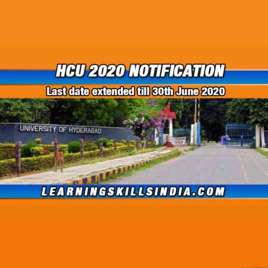 HCU Admission 2020 Update – Application Date Extended to 30th June