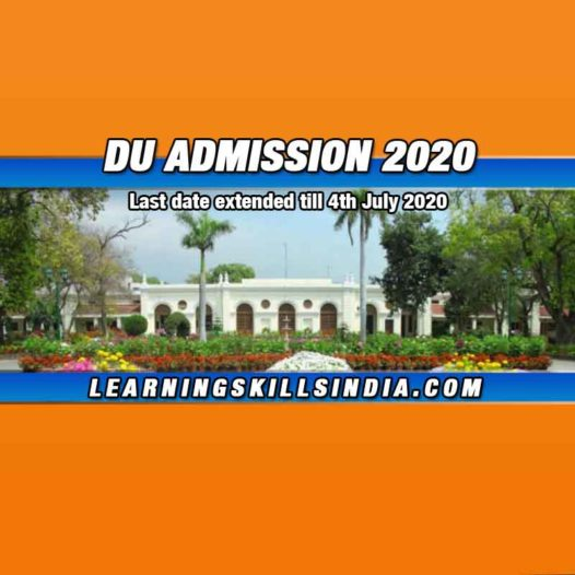 DU Admission 2020 Notification – Last Date Extended by 31st July