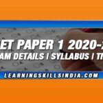 NTA UGC NET Paper 1 2020-21 – Exams, Syllabus & Preparation Tips