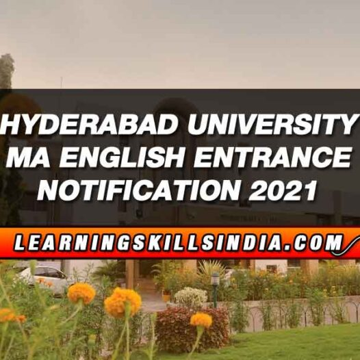 Hyderabad University MA English Entrance Application Last Date 3rd August