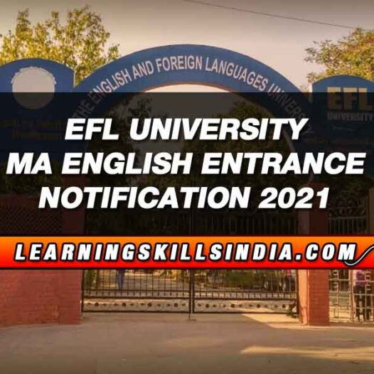EFLU MA English Entrance 2021 – Eligibility, Question Papers & More